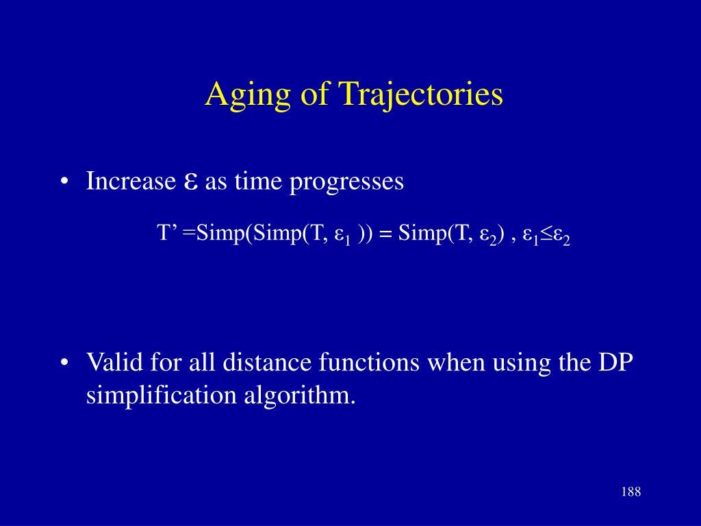 Aging of Trajectories
