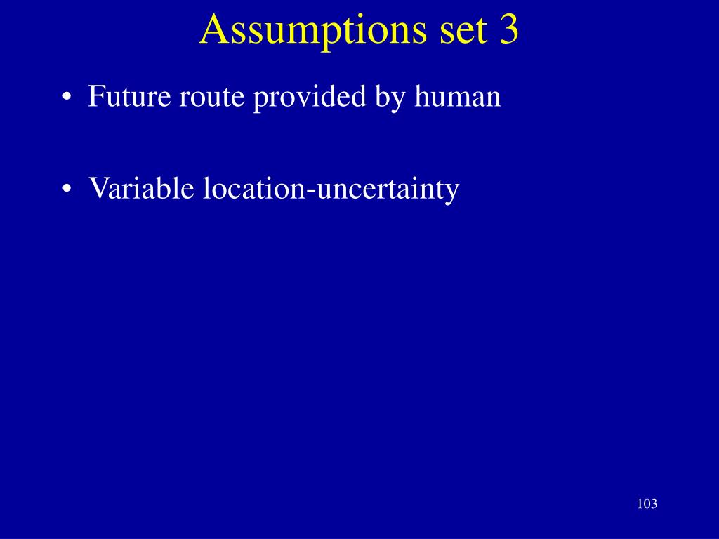 Assumptions set 3