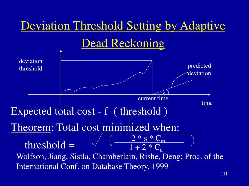 deviation threshold