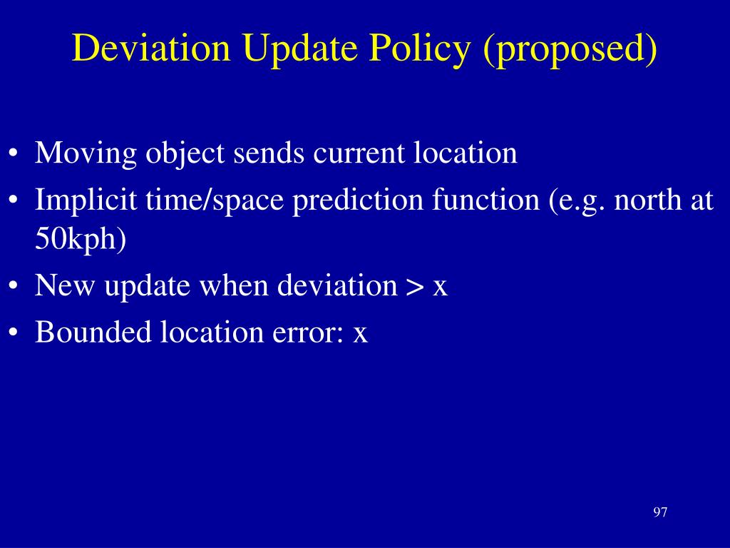 Deviation Update Policy (proposed)