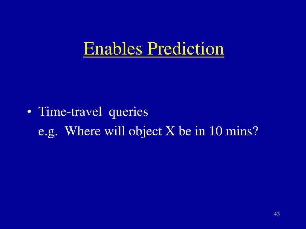 Enables Prediction