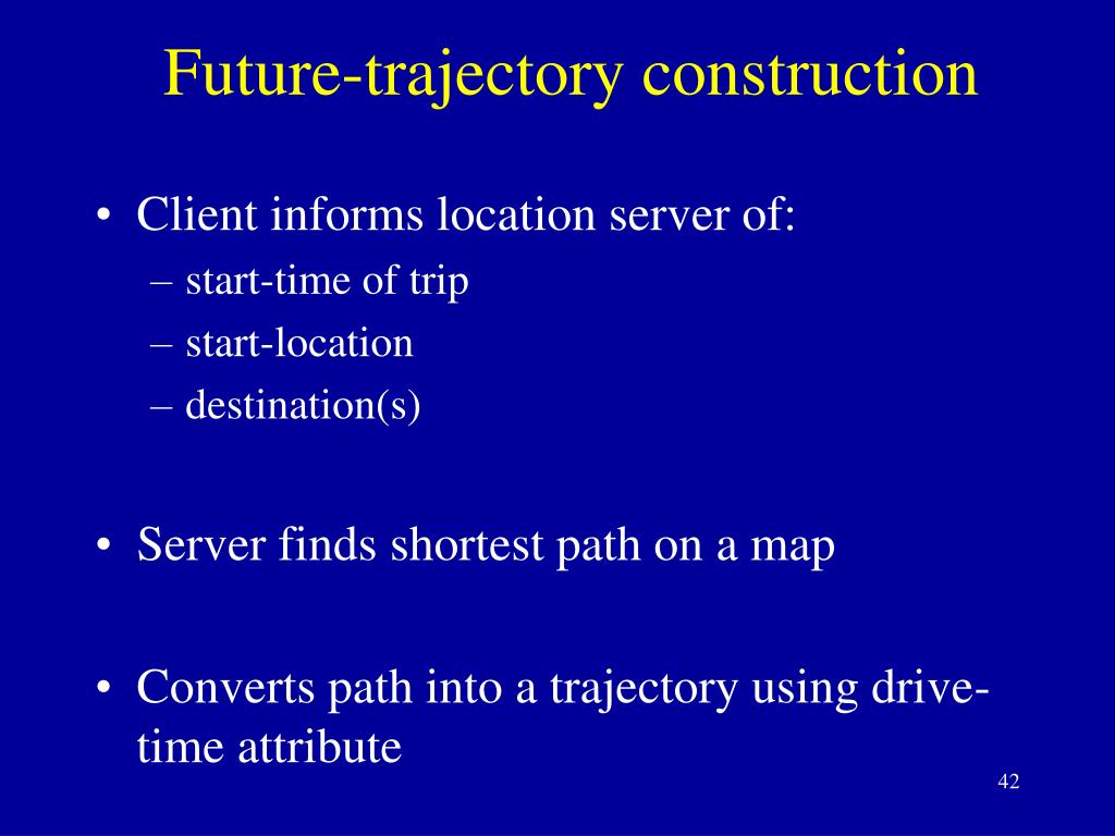 Future-trajectory construction