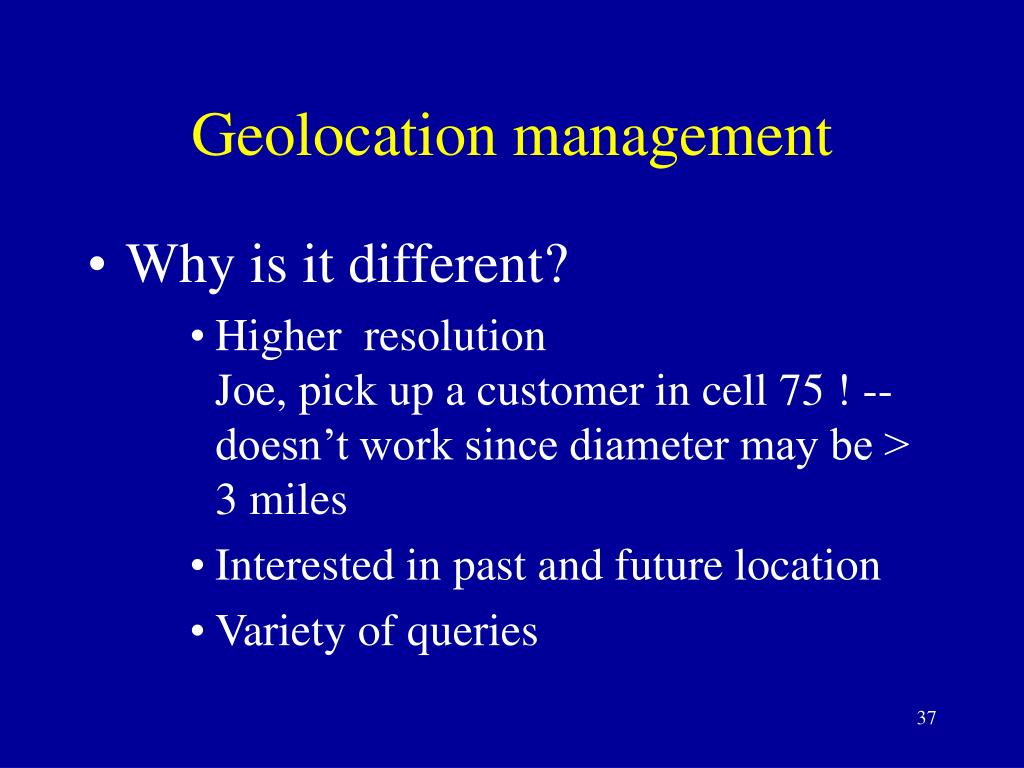 Geolocation management
