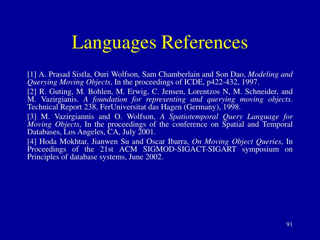 Languages References