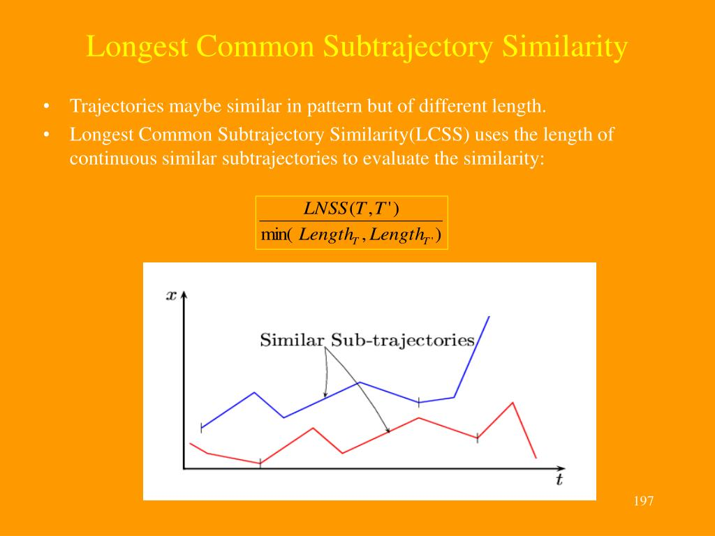 Longest Common Subtrajectory Similarity