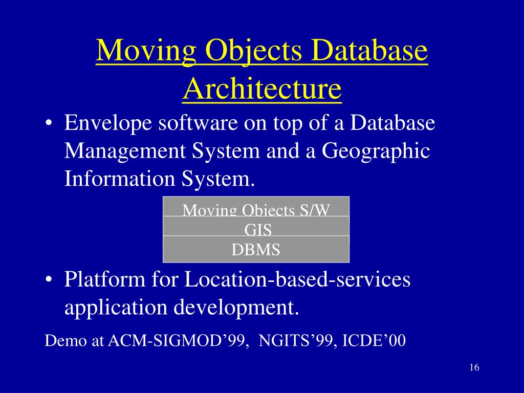 Moving Objects Database Architecture
