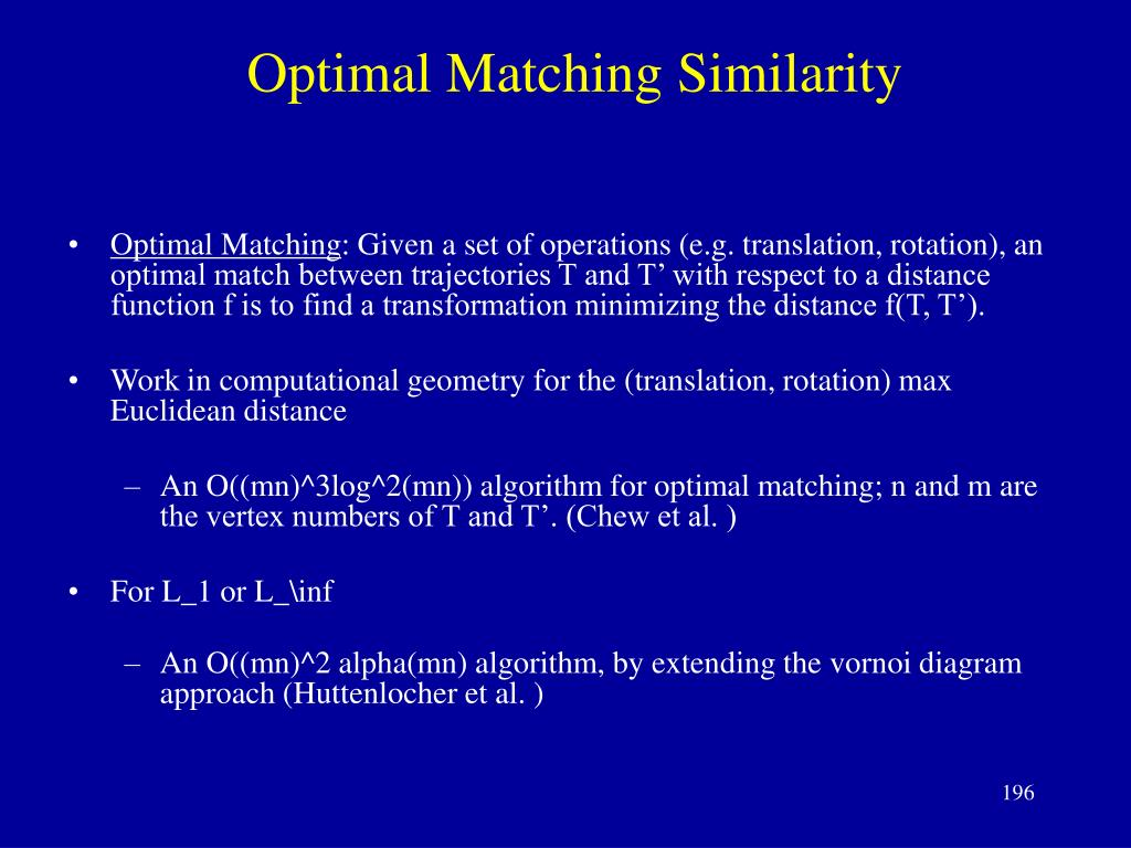 Optimal Matching Similarity