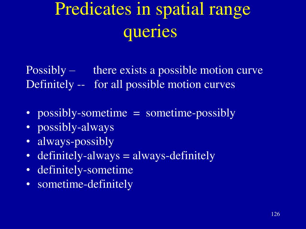 Predicates in spatial range queries