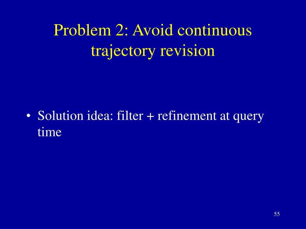 Problem 2: Avoid continuous trajectory revision