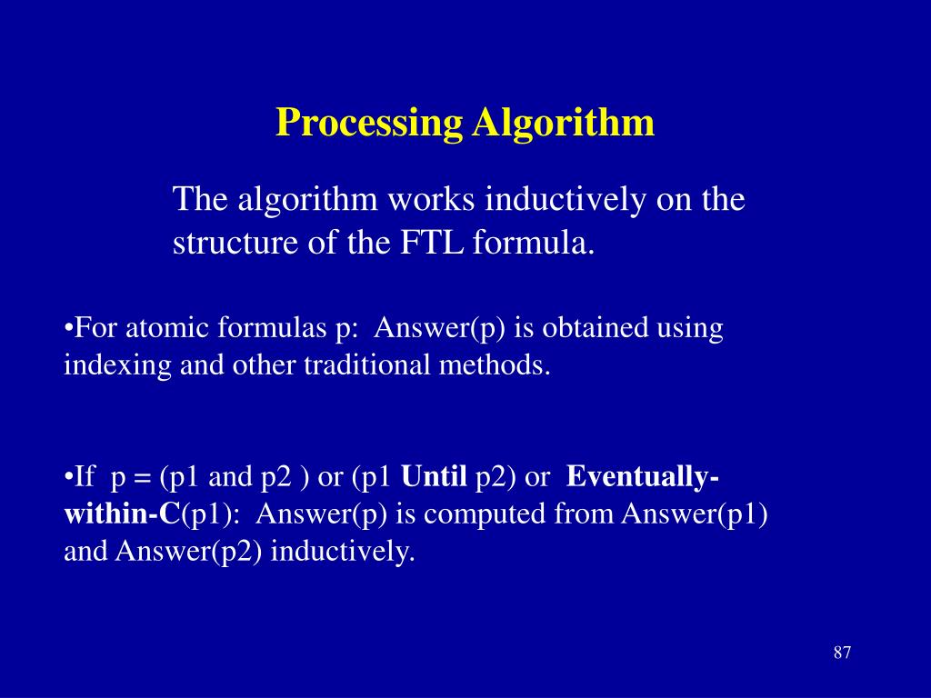 Processing Algorithm