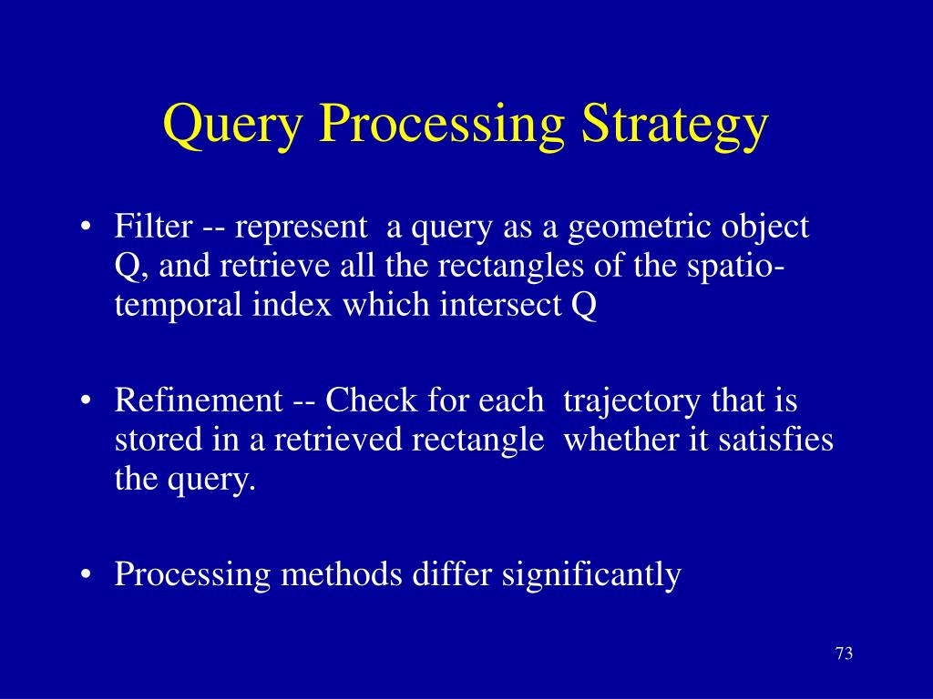 Query Processing Strategy
