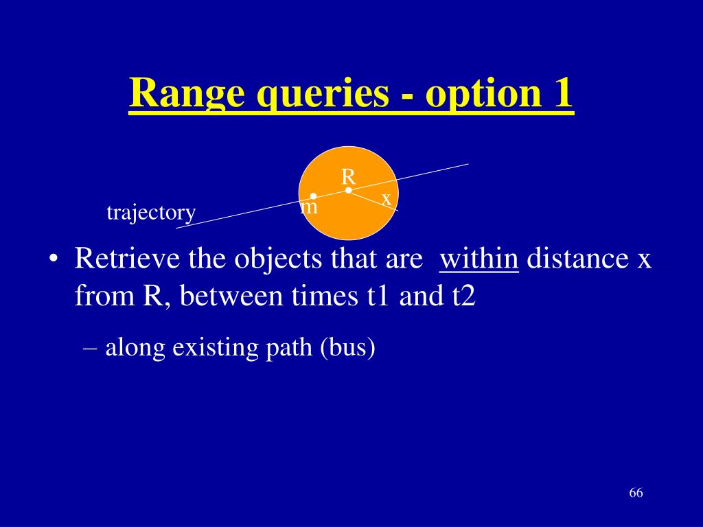 Range queries - option 1