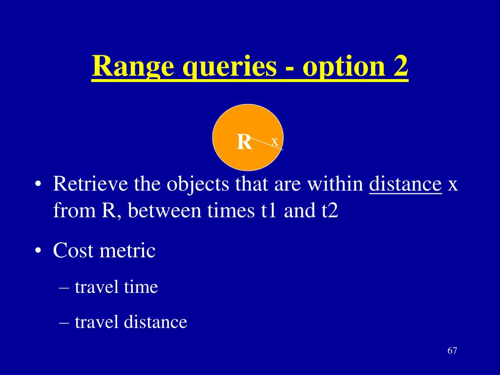Range queries - option 2