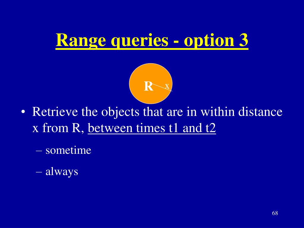 Range queries - option 3