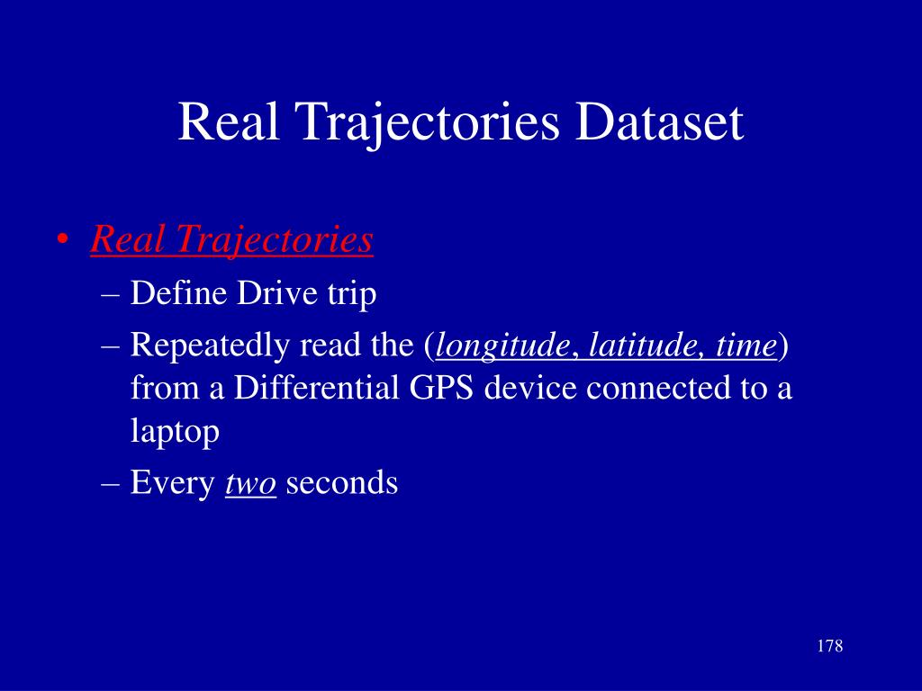 Real Trajectories Dataset