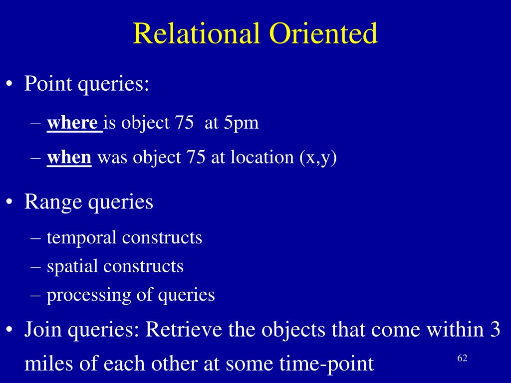 Relational Oriented