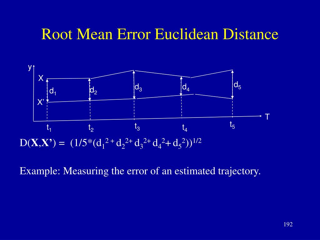 Root Mean Error Euclidean Distance