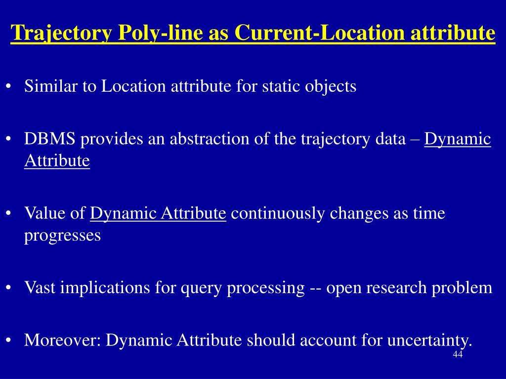 Trajectory Poly-line as Current-Location attribute
