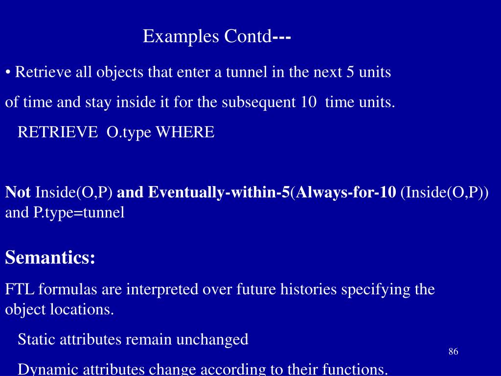 Examples Contd