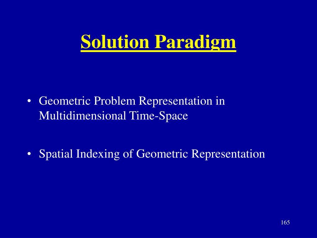 Solution Paradigm