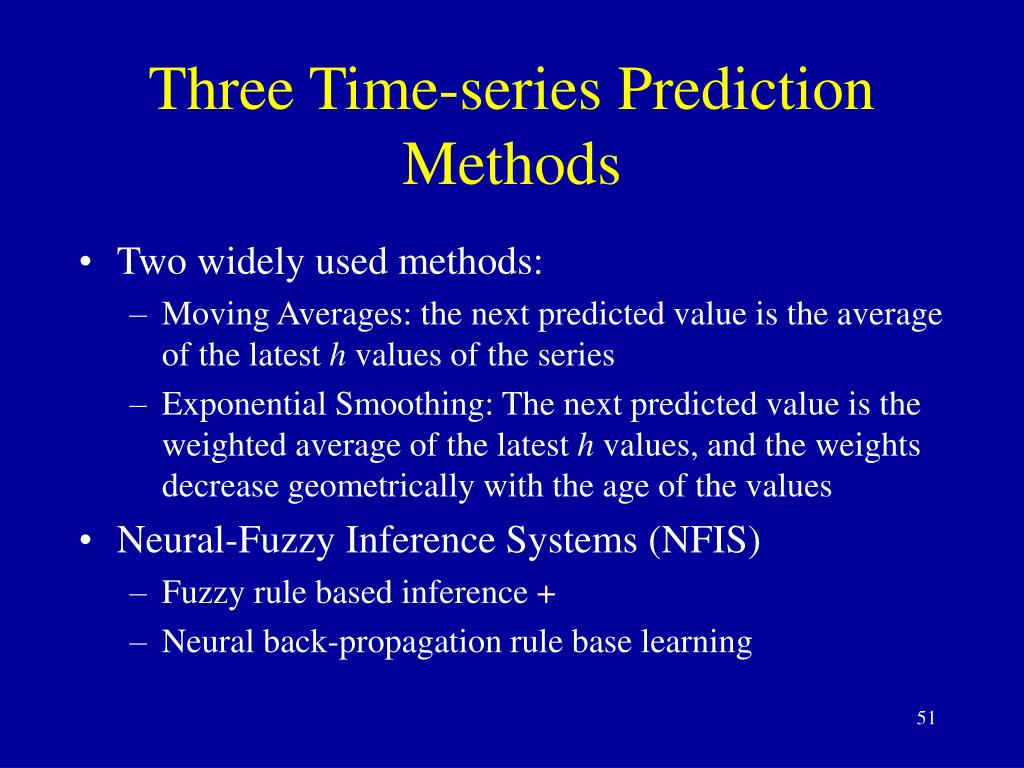 Three Time-series Prediction Methods