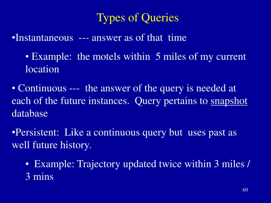 Types of Queries