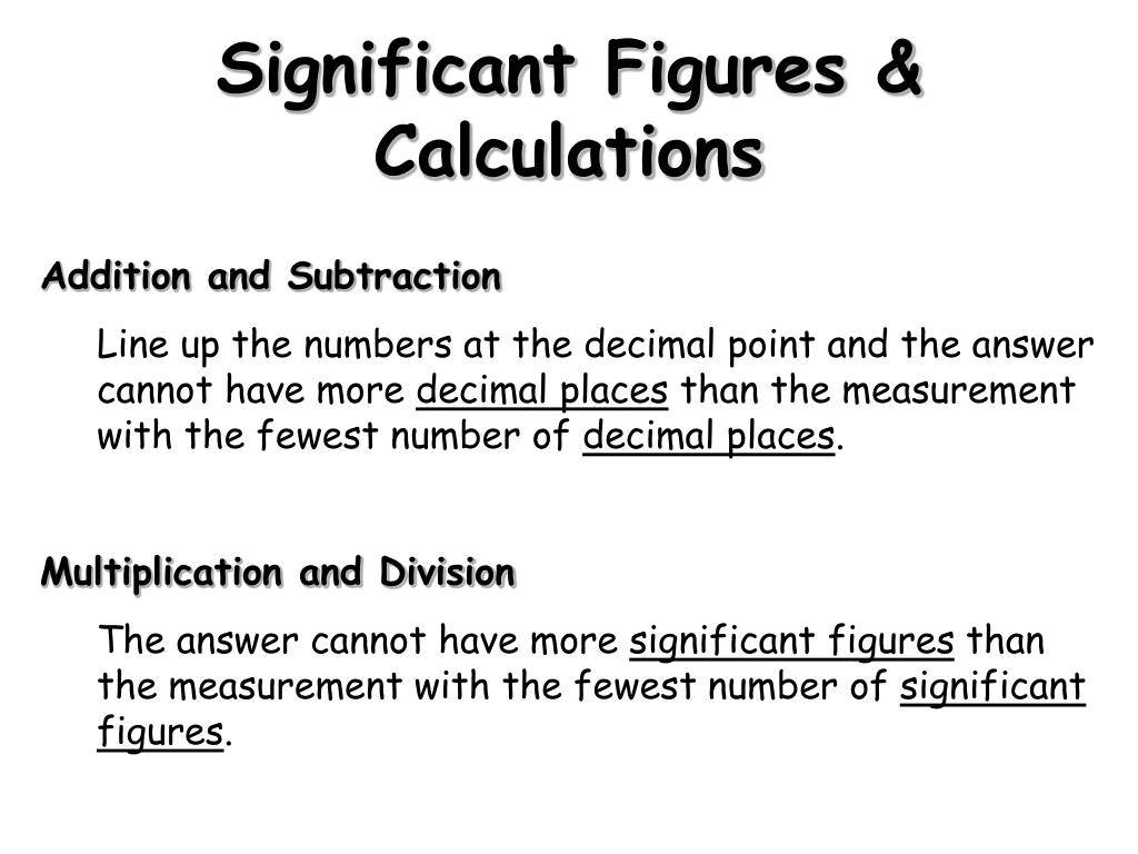 Significant Figures & Calculations