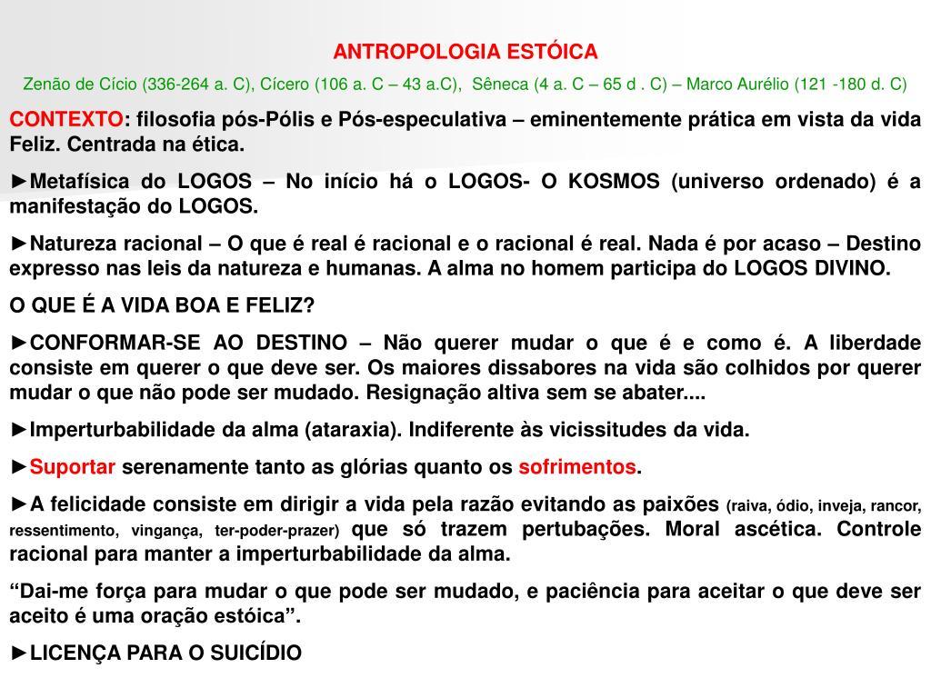 ANTROPOLOGIA ESTÓICA