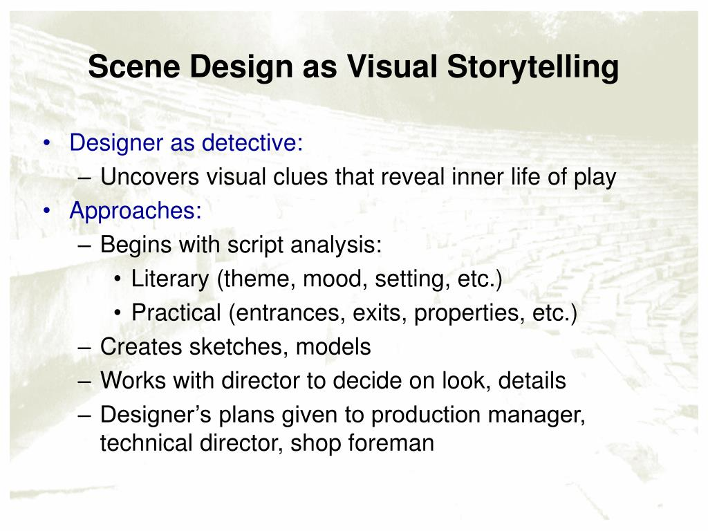 Scene Design as Visual Storytelling