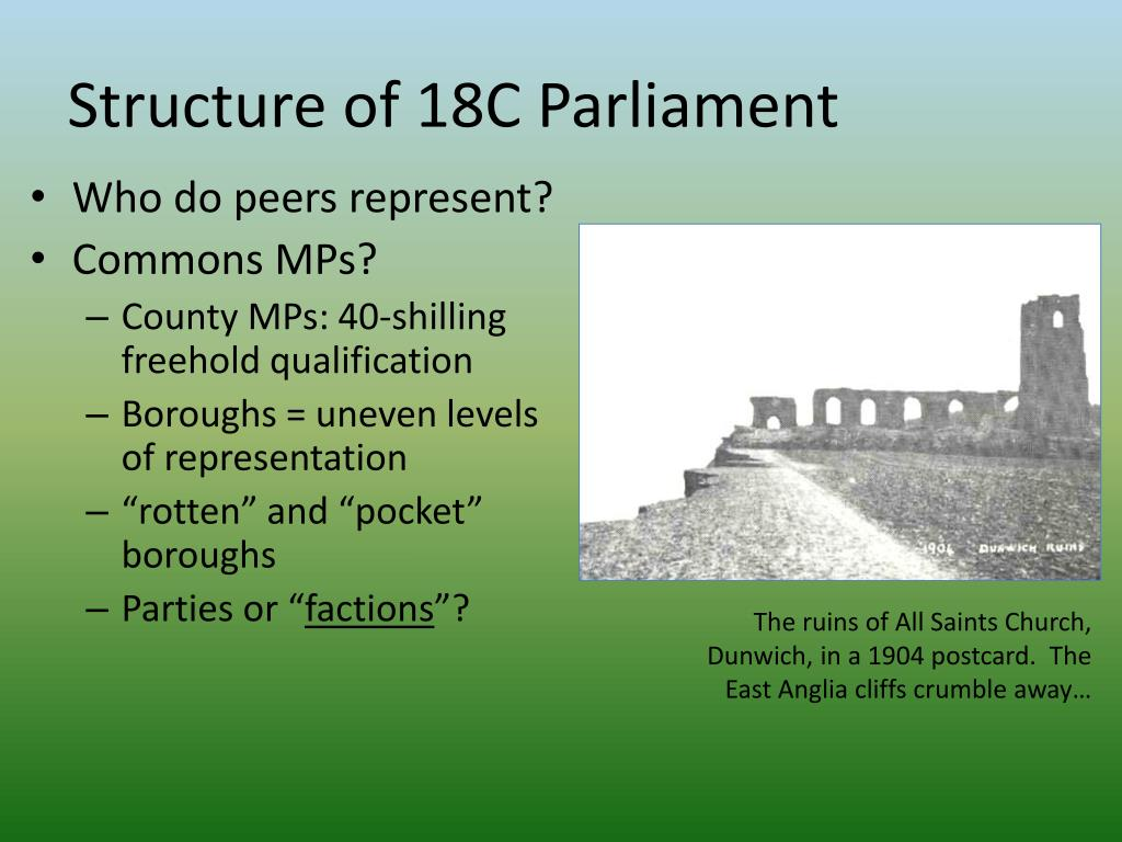 Structure of 18C Parliament