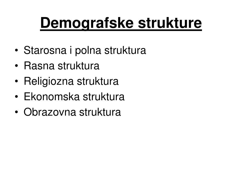 Demografske strukture