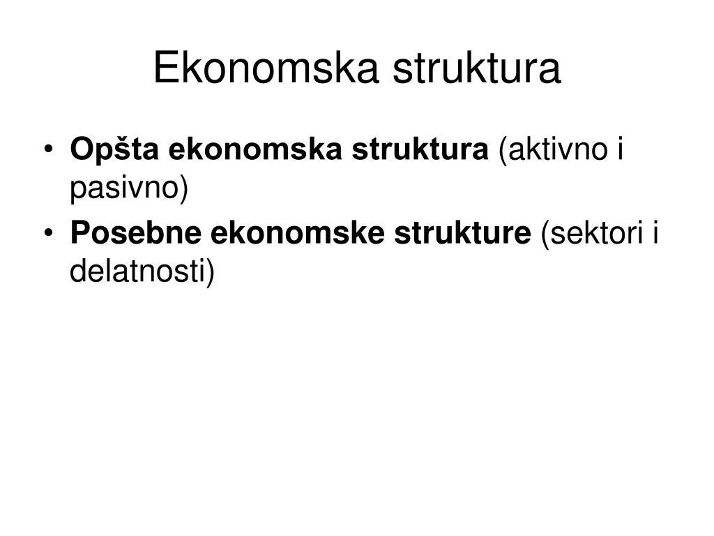 Ekonomska struktura