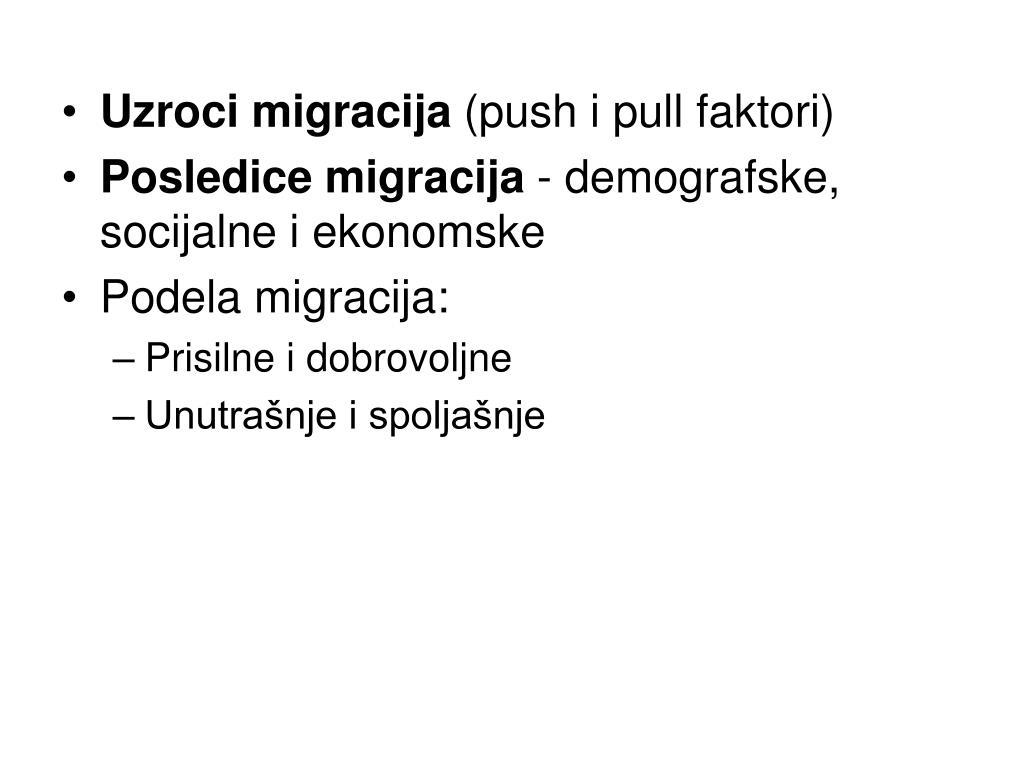 Uzroci migracija
