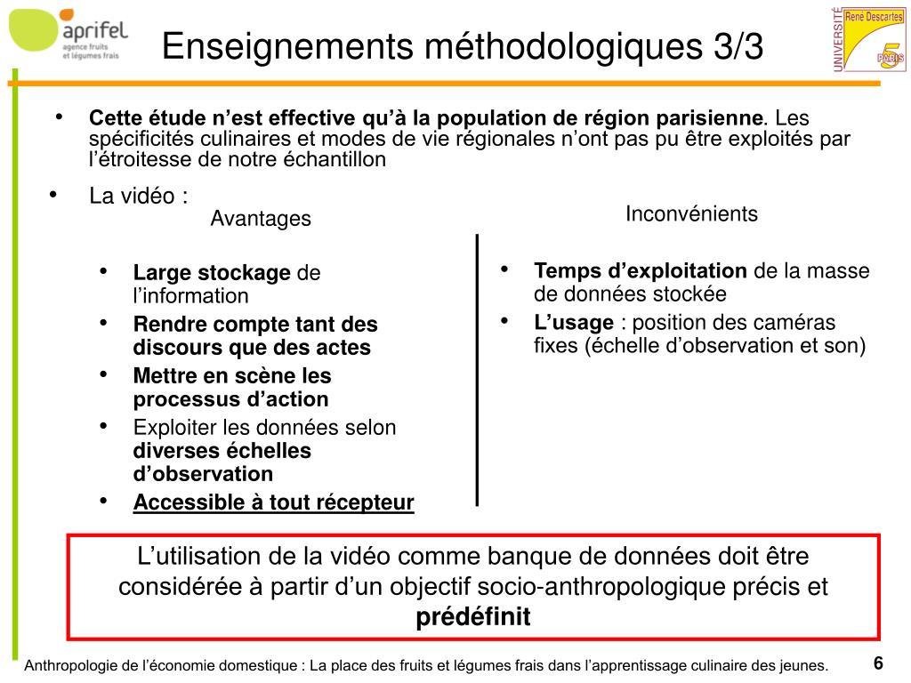 Cette étude n'est effective qu'à la population de région parisienne