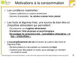 motivations la consommation