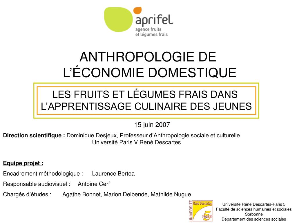 ANTHROPOLOGIE DE