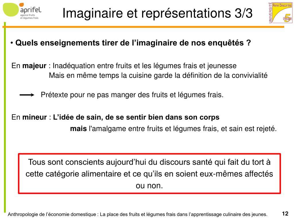 Imaginaire et représentations 3/3