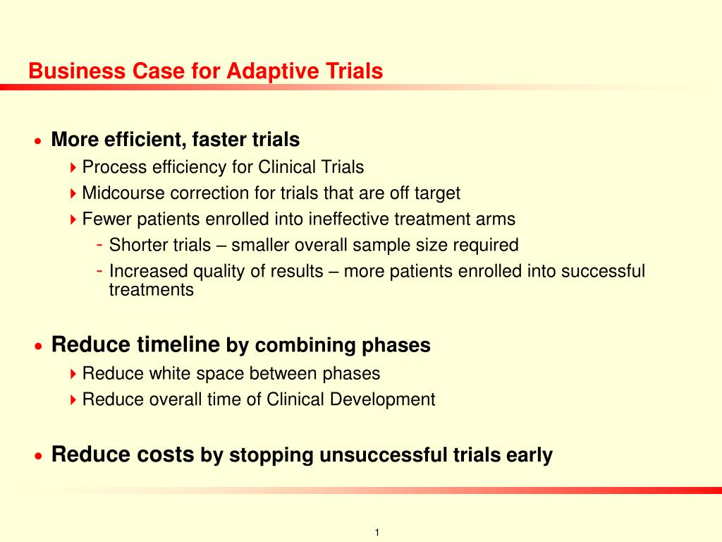 Business Case for Adaptive Trials