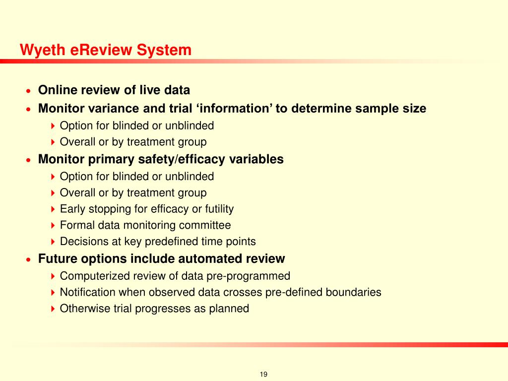Wyeth eReview System