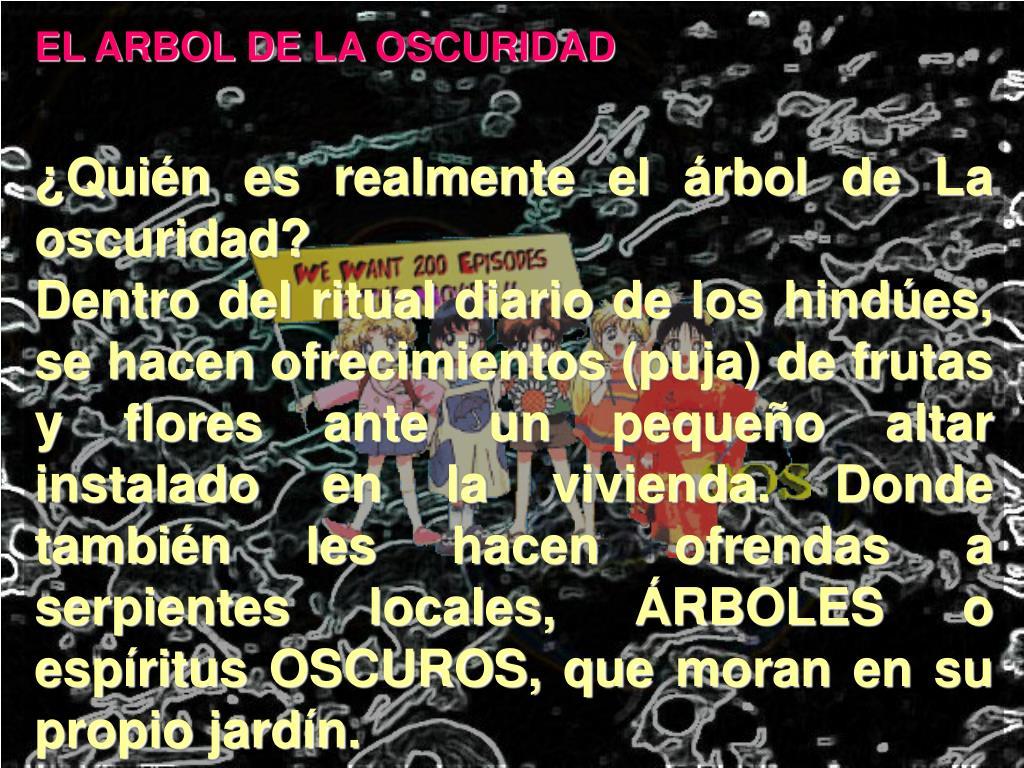 EL ARBOL DE LA OSCURIDAD