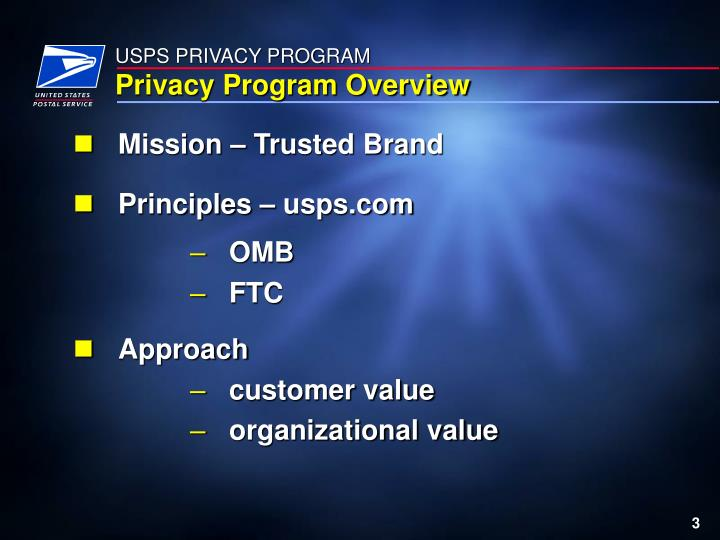 USPS PRIVACY PROGRAM