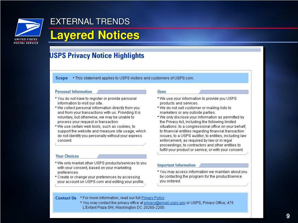 EXTERNAL TRENDS