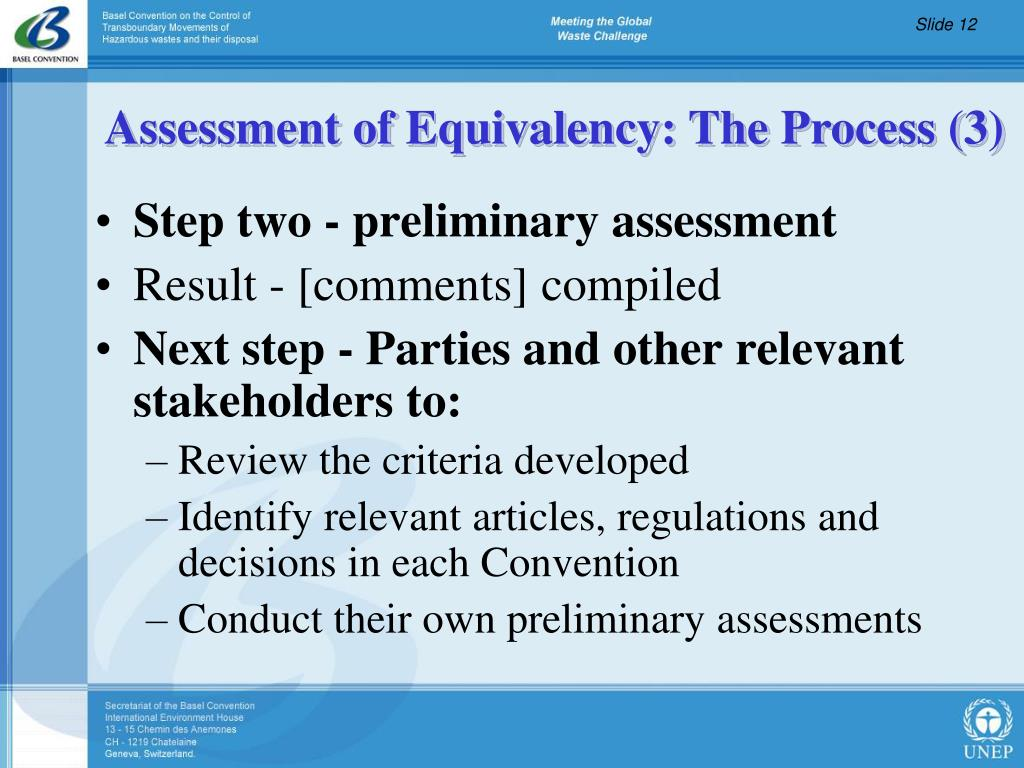 Step two - preliminary assessment