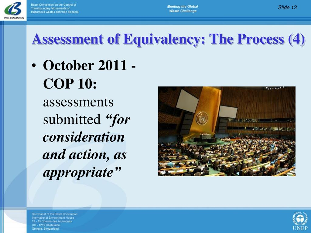 Assessment of Equivalency: The Process (4)