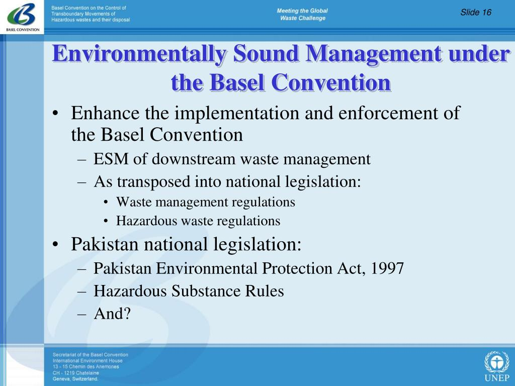 Enhance the implementation and enforcement of the Basel Convention