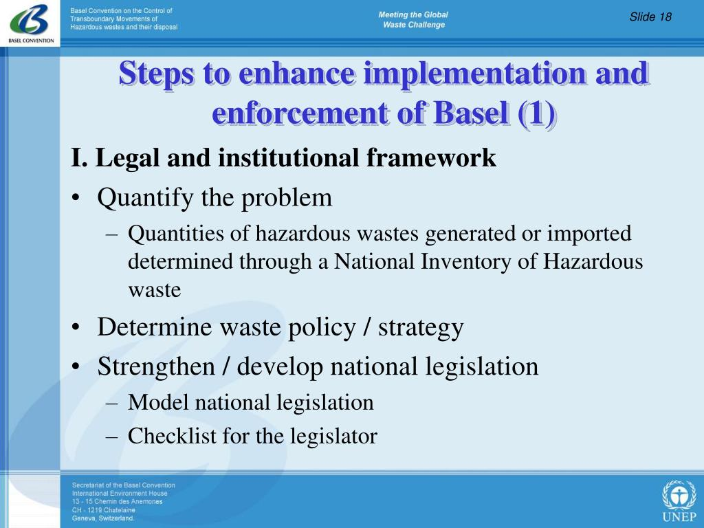 I. Legal and institutional framework