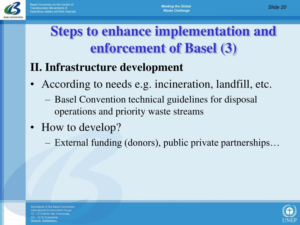 II. Infrastructure development