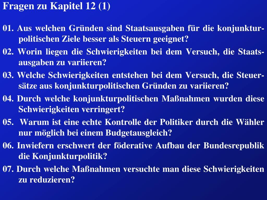 Fragen zu Kapitel 12 (1)