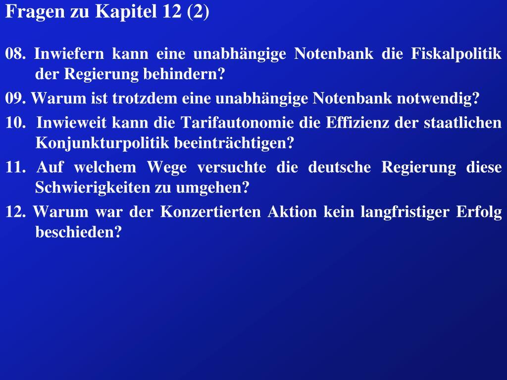 Fragen zu Kapitel 12 (2)