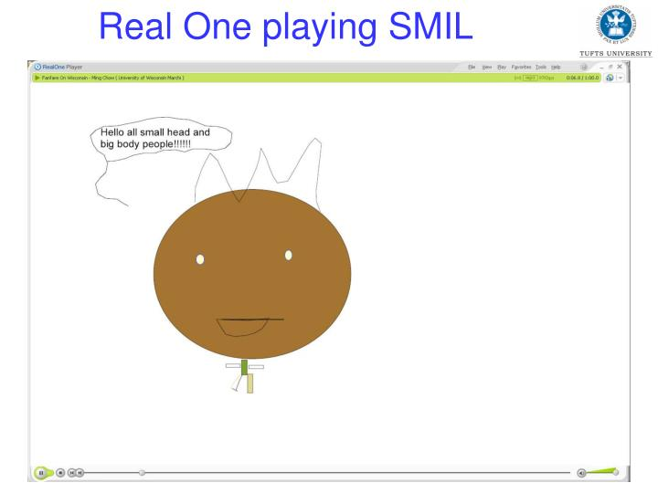 Real One playing SMIL